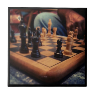 Chess Club Tile/Trivet Small Square Tile