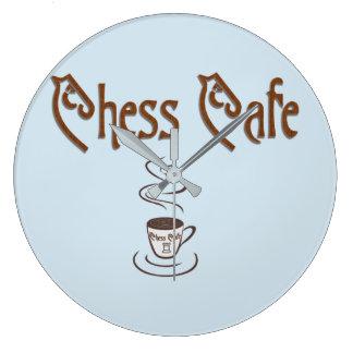 Chess Coffee Large Clock