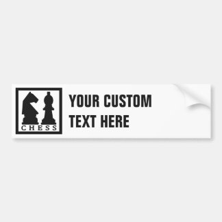 CHESS custom bumpersticker Bumper Sticker
