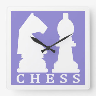 CHESS custom color wall clock