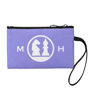 CHESS custom monogram & color accessory bags