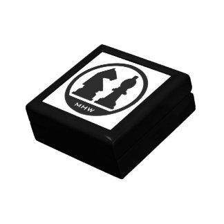 CHESS custom monogram & color gift / jewelry box