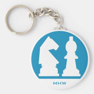 CHESS custom monogram & color key chains