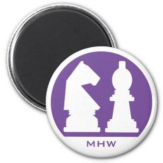 CHESS custom monogram & color magnet