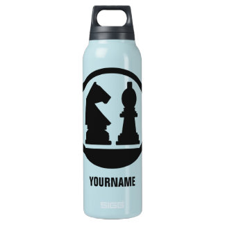 CHESS custom monogram Insulated Water Bottle