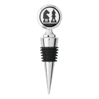 CHESS custom monogram wine stopper