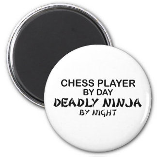 Chess Deadly Ninja by Night 6 Cm Round Magnet