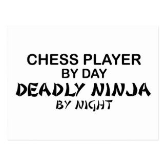 Chess Deadly Ninja by Night Postcard