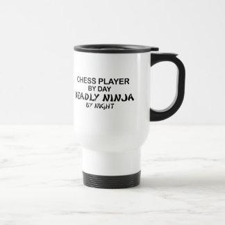 Chess Deadly Ninja by Night Stainless Steel Travel Mug