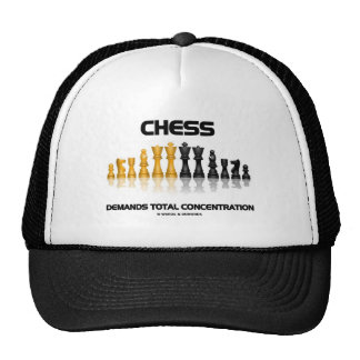Chess Demands Total Concentration (Chess Set) Mesh Hats