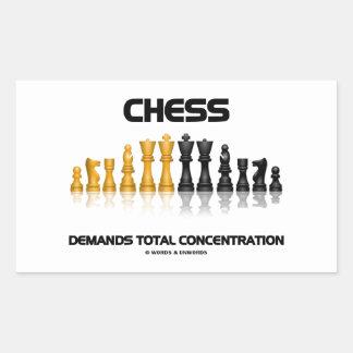 Chess Demands Total Concentration (Chess Set) Rectangular Sticker