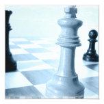 """Chess Design Invitations 5.25"""" Square Invitation Card"""