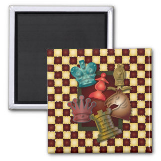 Chess Design King Queen Knight Bishop Pawn Magnet