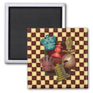 Chess Design King Queen Knight Bishop Pawn Fridge Magnet