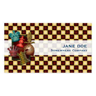 Chess Design King Queen Knight Bishop Pawn Pack Of Standard Business Cards