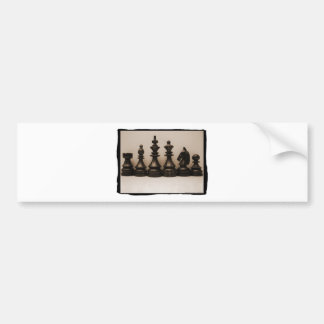 Chess Family Line Up Bumper Stickers