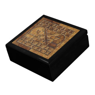 CHESS GAME IN STONE LARGE SQUARE GIFT BOX