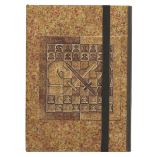 CHESS GAME IN STONE iPad AIR COVER