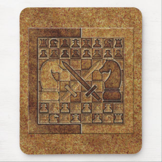 CHESS GAME IN STONE MOUSE MAT