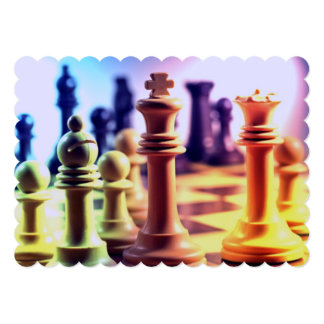 "Chess Game 5"" X 7"" Invitation Card"