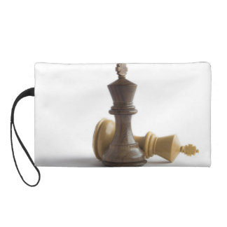 Chess Game Over Wristlet Purses