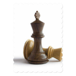 "Chess Game Over 5"" X 7"" Invitation Card"