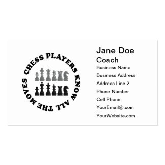 Chess Game Pieces Pack Of Standard Business Cards