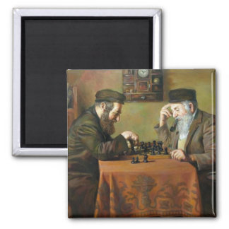Chess Game Square Magnet