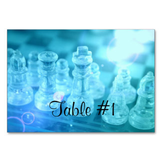 Chess Game Table Card