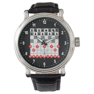 Chess game wrist watches