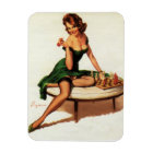 Chess Girl Pin Up Magnet