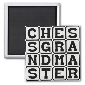 Chess Grandmaster Good At Chess Refrigerator Magnets