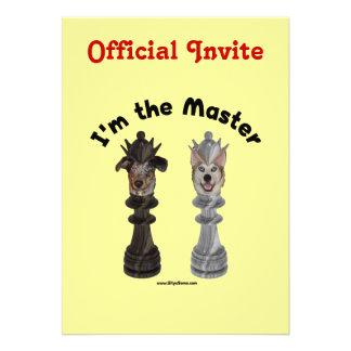 Chess I'm the Master Dog Invite