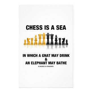 Chess Is A Sea In Which Gnat May Drink Elephant Personalized Stationery
