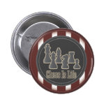 Chess is Life Red 6 Cm Round Badge
