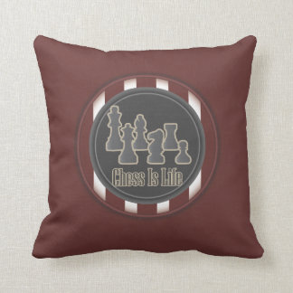 Chess Is Life Red Pillow