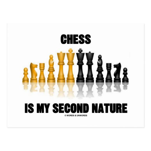 Chess Is My Second Nature (Reflective Chess Set) Post Cards