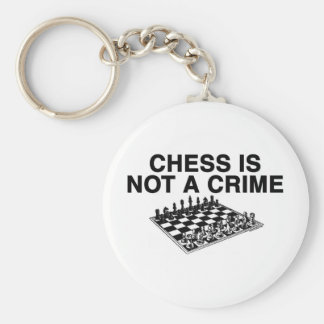 Chess is Not a Crime Key Ring