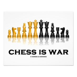 Chess Is War Chess Attitude Custom Invitations