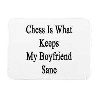 Chess Is What Keeps My Boyfriend Sane Rectangular Magnets