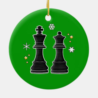 Chess King and Queen at Christmas. Christmas Ornament