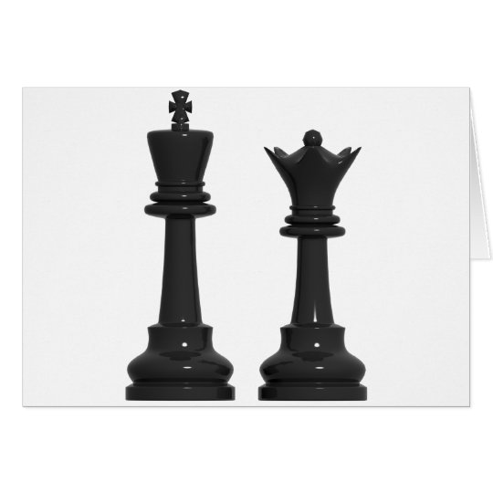 Chess King and Queen Humourous Birthday Card