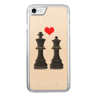 Chess King and Queen with Heart Carved iPhone 7 Case