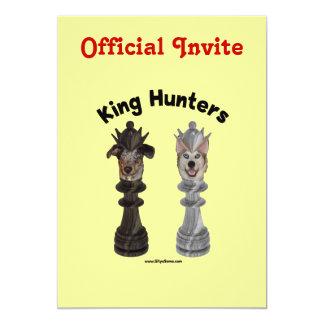 Chess King Hunters Dogs 13 Cm X 18 Cm Invitation Card