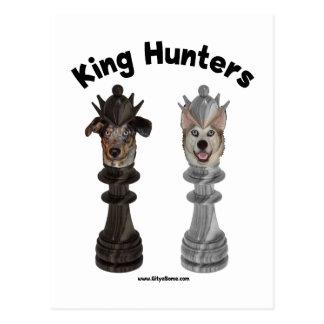 Chess King Hunters Dogs Postcard
