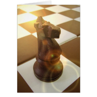 Chess Knight Greeting Card
