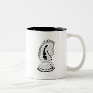 chess - knight Two-Tone coffee mug