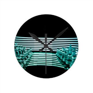 Chess lights round clock