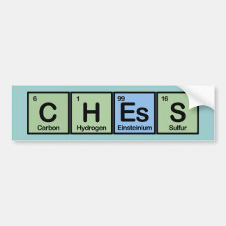 Chess Made of Elements Bumper Sticker
