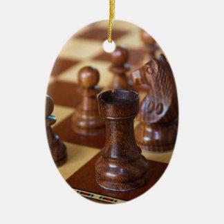 Chess Mahogany Christmas Ornament